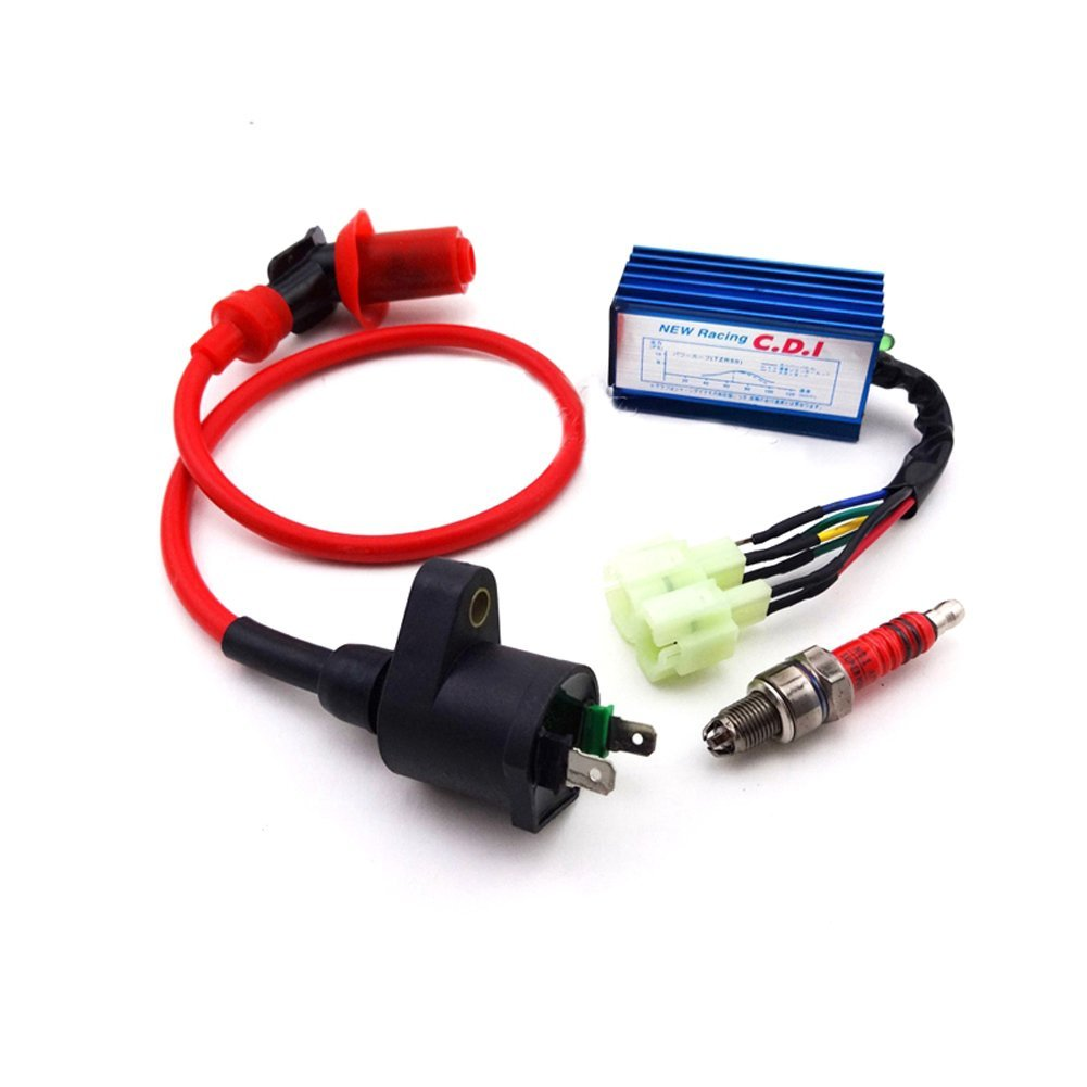 Tc Motor Performance Ignition Coil Ac Cdi Spark Plug Wiring Loom Harness Kill Switch For 50cc 110cc 125 140 150 160cc Pit Crf50 Crf70 Crf80 Crf100 Xr50 Xr70 Xr80 Xr100 Dirt Bike Motorcycle