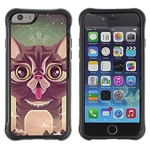 Hybrid Anti-Shock Defend Case for Apple iPhone 6 4.7 Inch / Cute Cat