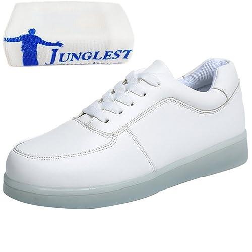 (Presente:pequeña toalla)JUNGLEST® Mujer Zapatillas Deportivas Planos con Luz L: Amazon.es: Zapatos y complementos