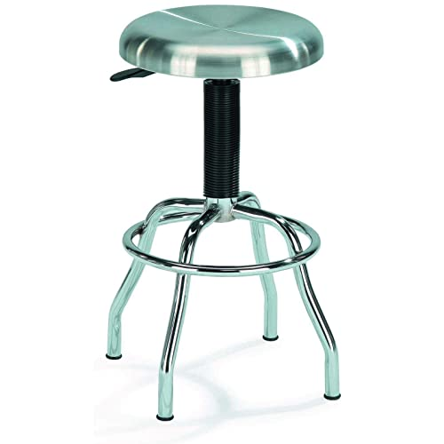 New Spec Inc Stainless Steel Workstool w Swivel