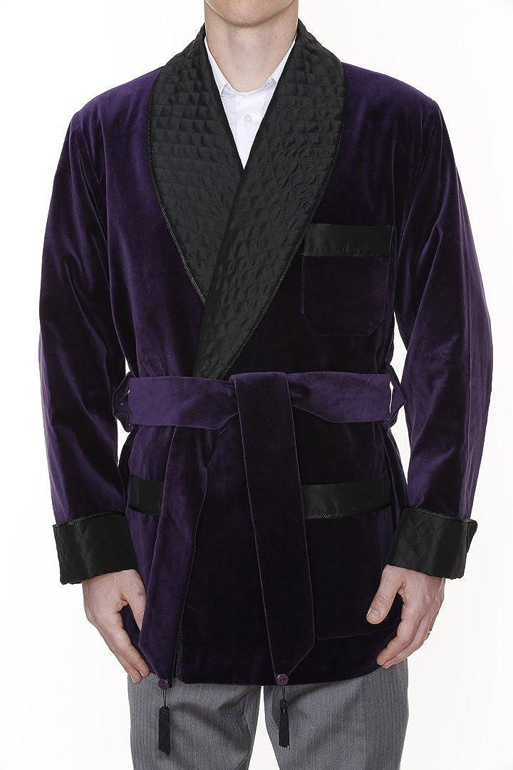 Mens Smoking Jacket Asher Purple