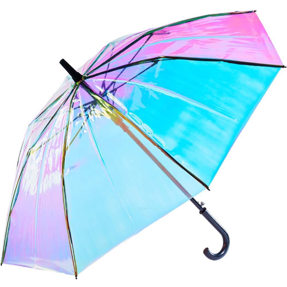 calidad y cantidad asegurada sensación cómoda talla 7 TAOVK Paraguas holográfico de plástico PVC con Mango Largo ...