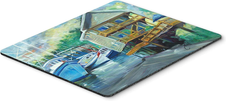Caroline's Treasures JMK1069MP Ocean Springs Harbour Landing Mouse Pad, Hot Pad or Trivet, Large, Multicolor [並行輸入品]