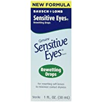 Bausch & Lomb Sensitive Eyes Rewetting Drops, 1-Ounce Bottles (Pack of 3)