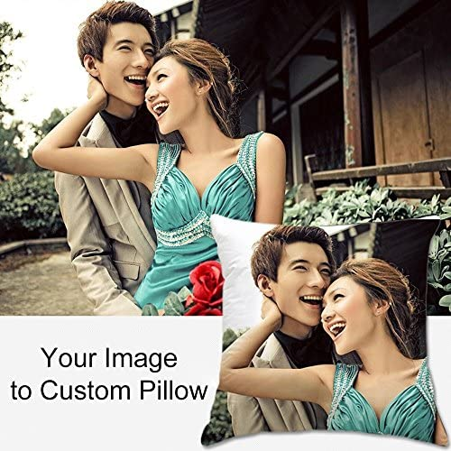 Yifely Personalized Pillow with Your Own Photo Custom Picture Pillowcase Insert Included 40x40cm Customizable Gift