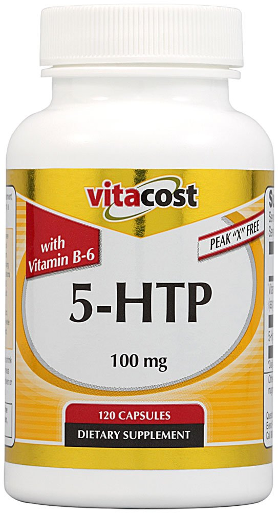 Vitacost 5-HTP with B-6 — 100 mg – 120 Capsules