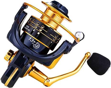 CDKZK FBE1000-6000 Serie de Pesca de Metal Spinning Carrete, 13 + ...