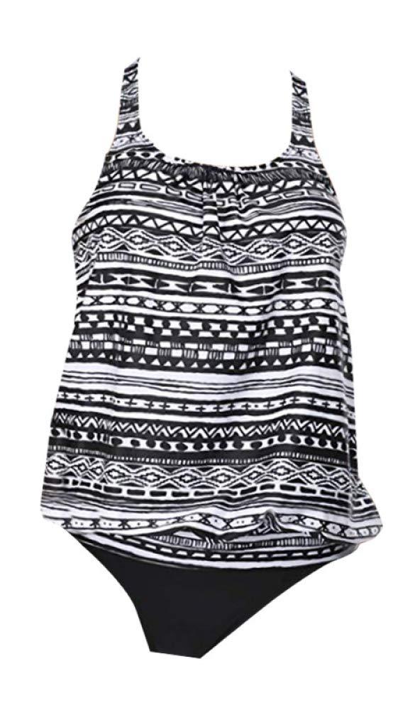 D Slim fit Split Swimsuit Female Printing Polyester Triangle Bikini Plus Size Bikini