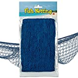 Beistle 50301-B Decorative Fish Netting, 4 by 12-Feet, blue