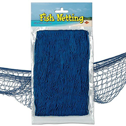 Beistle 50301-B Decorative Fish Netting, 4 by 12-Feet -