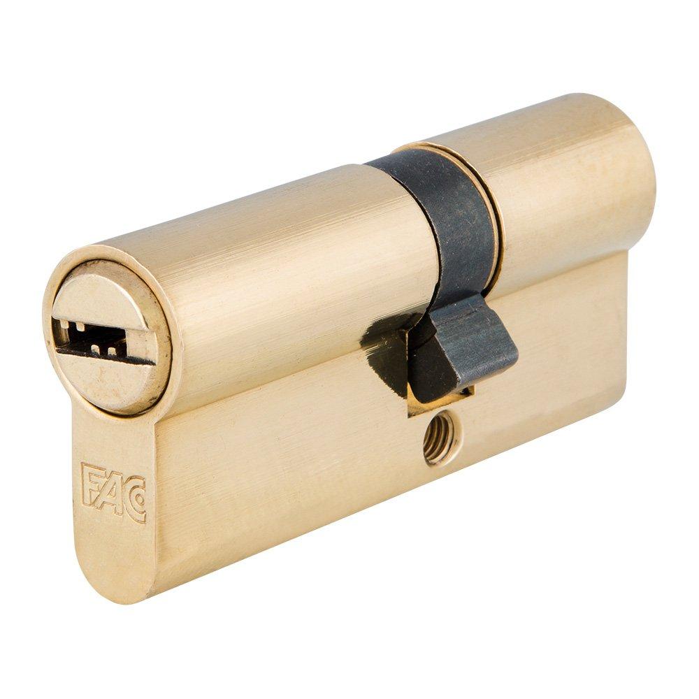 FAC 3014205 Cilindro Seguridad 70-p 30x40 Latonado 15,0mm: Amazon.es: Bricolaje y herramientas