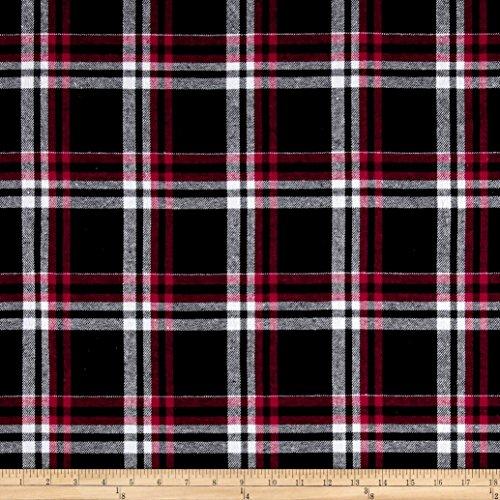 Newcastle Fabrics Yarn Dyed Flannel Gabriel Black/Red/Grey Yard