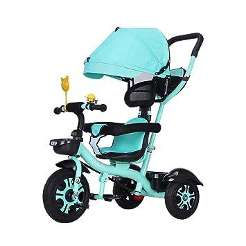 Carrito de bebé Plegable 3 en 1 Triciclo de Bicicleta multifunción para niños de 1 a