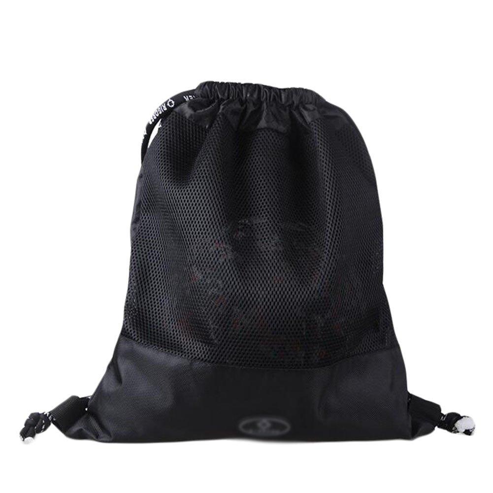 George Jimmy Basketball Soccer Volleyball Pocket Training Bag Outdoor Sport Organizer Backpack-Black