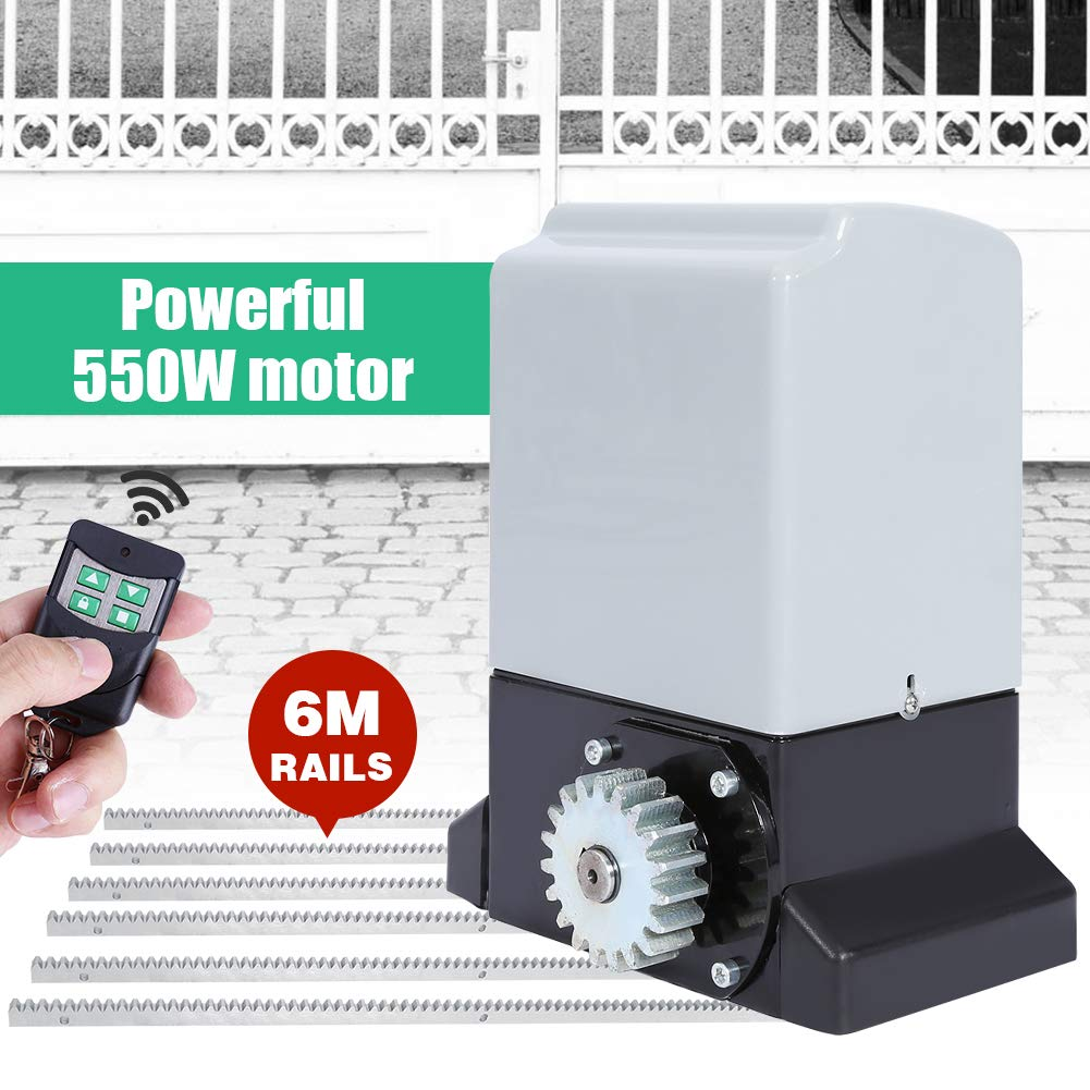 2000KG Sliding Electric Gate Opener Smart Automatic Motor Heavy Duty Driveway Security Kit, Track Driveway Security Kit with Infrared Anti-Pinch Function(Set 1) by EBTOOLS (Image #2)