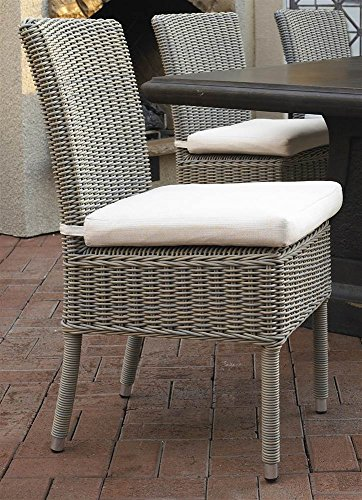 Padma's Plantataion Outdoor Boca Chair with White Outdoor Cushion - Padmas Plantation Loft