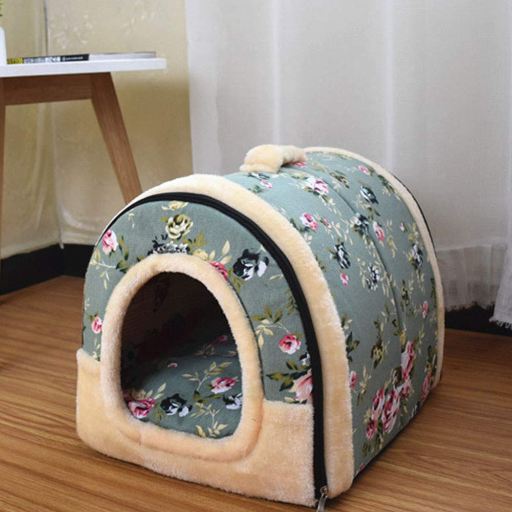 G MediumRetro Wall Tiles Dog Bed, Washable Pets Cats and Dogs DualUse Pads Metal Zipper Non Slip Pet Products S M L,E,M