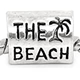 SEXY SPARKLES The Beach Charm Bead Spacer for Snake Chain Charm Bracelet