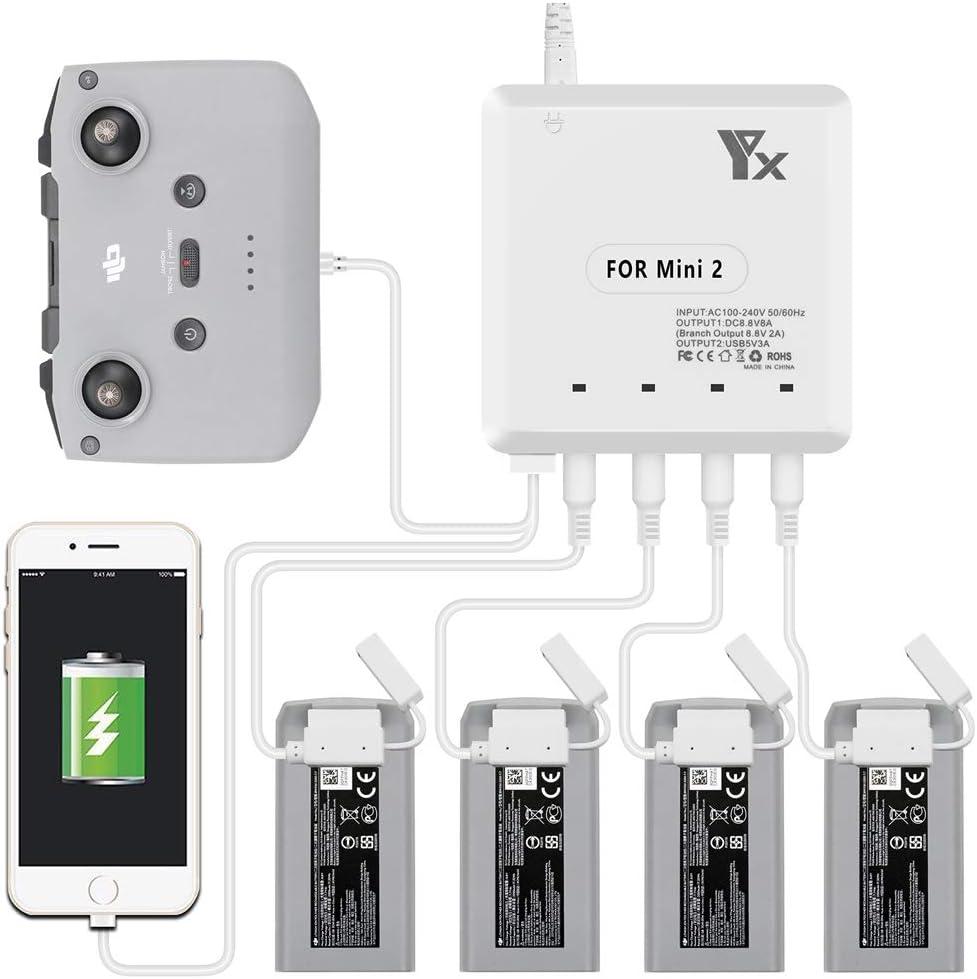 Tineer Multi Battery Charger Für Mavic Mini 2 Drone 4pc Batterieladegerät Mit Usb Anschluss Für Smartphone