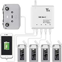Tineer Multi-batterijlader voor Mavic Mini 2 Drone, 4PC Battery Charger met USB-poort voor smartphone en…