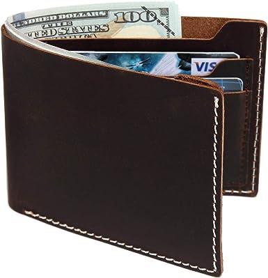 Personalised Slimfold Men/'s Genuine Leather Wallet Best man ENGRAVED FREE