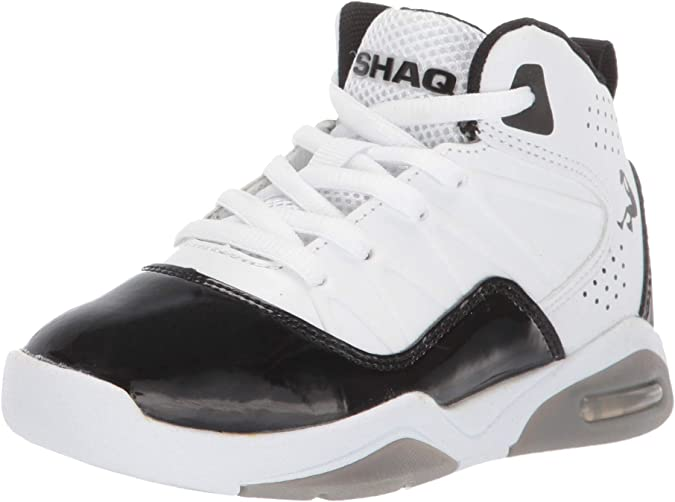 Shaq Kids' 3-Ball Sneaker, Black/Red, 3