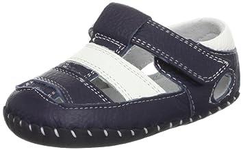 78845de890d7f Chaussures   sandales bébé cuir souple - Garcon - Bleu - Taille 6 ...