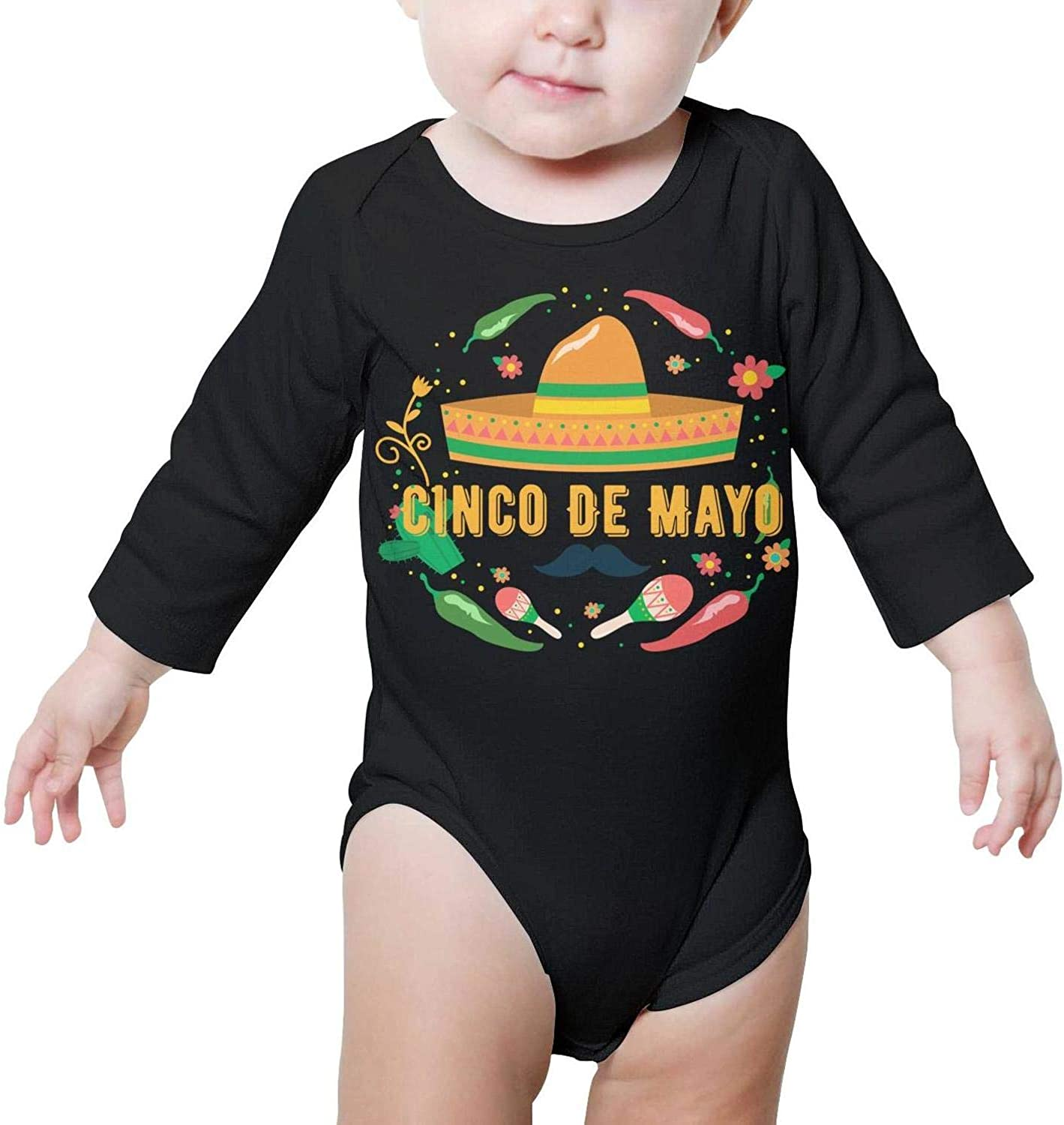 Cinco de Mayo Id Hit That White Baby Onesie Bodysuit Long Sleeve Natural Organic Cotton Gift