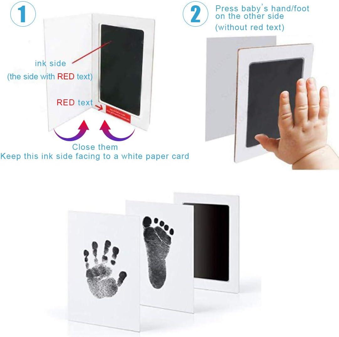 Handprint Kit for Newborn Girls and Boys-Inkless Pad for Infant,Family Long-Lasting Keepsakes,Babies Shower Gift Kit Baby Handprint and Footprint Kit,Baby Prints Hands and Feet,Paw Print Kit