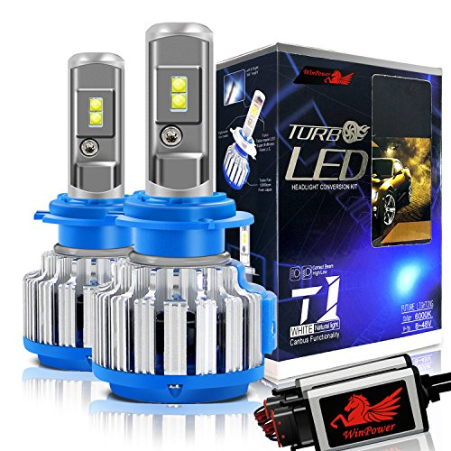 Win Power H7 LED Headlight Bulb CREE 70W 6000K 7200LM Cool White High/Low Beam/Fog Lights Conversion Kit+ Canbus-2 Yr Warranty