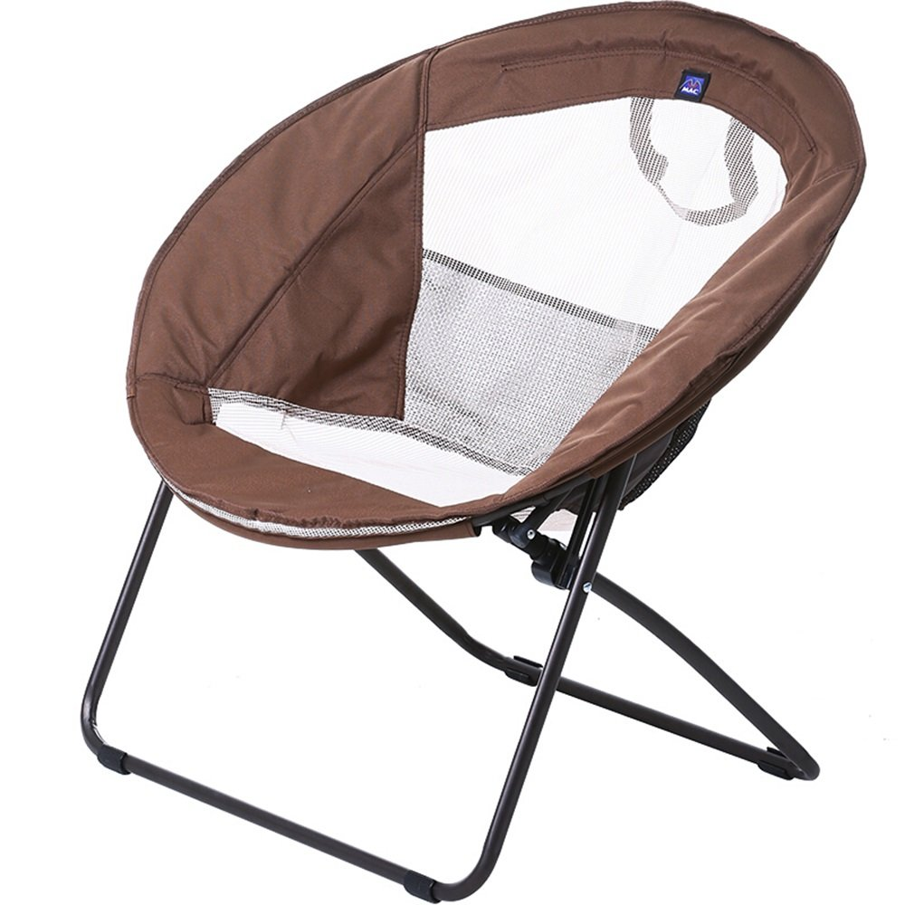 Brown folding chair / moon chair / lunch break lazy chair / folding chair / chaise longue / fabric sofa chair / round chair / recreational chair /Round lazy couch /