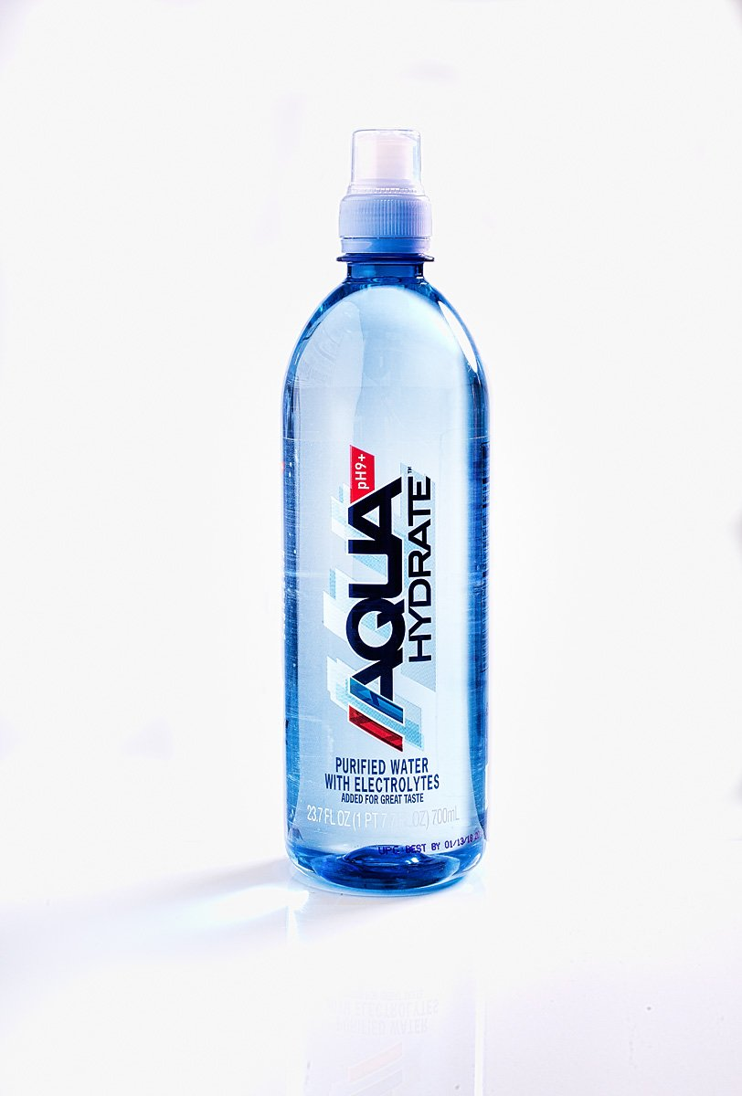 AQUAhydrate Electrolyte Enhanced Water Ph9+, 23.67  Fl. Oz (Pack of 12) by AQUAhydrate (Image #6)