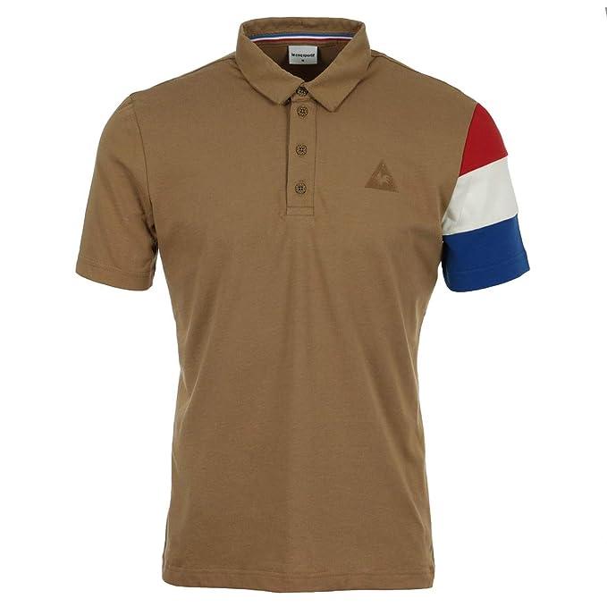 Le Coq Sportif - Polo - para Hombre marrón XL: Amazon.es: Ropa y ...
