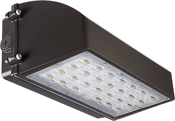 iBRIGHT Full Cutoff LED Wall Pack Area Light Fixture Waterproof Outdoor 5000K