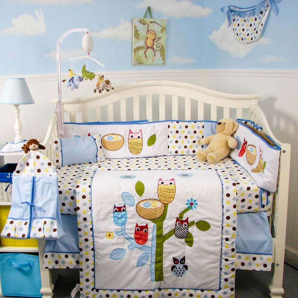 SoHo Baby Crib Bedding 10Pc Set, Owl Tree