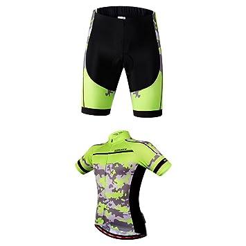 Magideal Pantalones Cortos de Ciclismo para Bicicleta de Hombre y Ropa Interior de Pantalón de Jersey