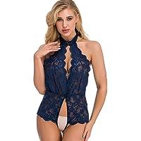 Frauen-W/äsche-Spitze-r/ückenfreie Bodysuit-Verband-Overall-Pyjama-Unterw/äsche mit offenem Schritt DWQuee ❤️ Frauen-reizvolle Spitze-W/äsche
