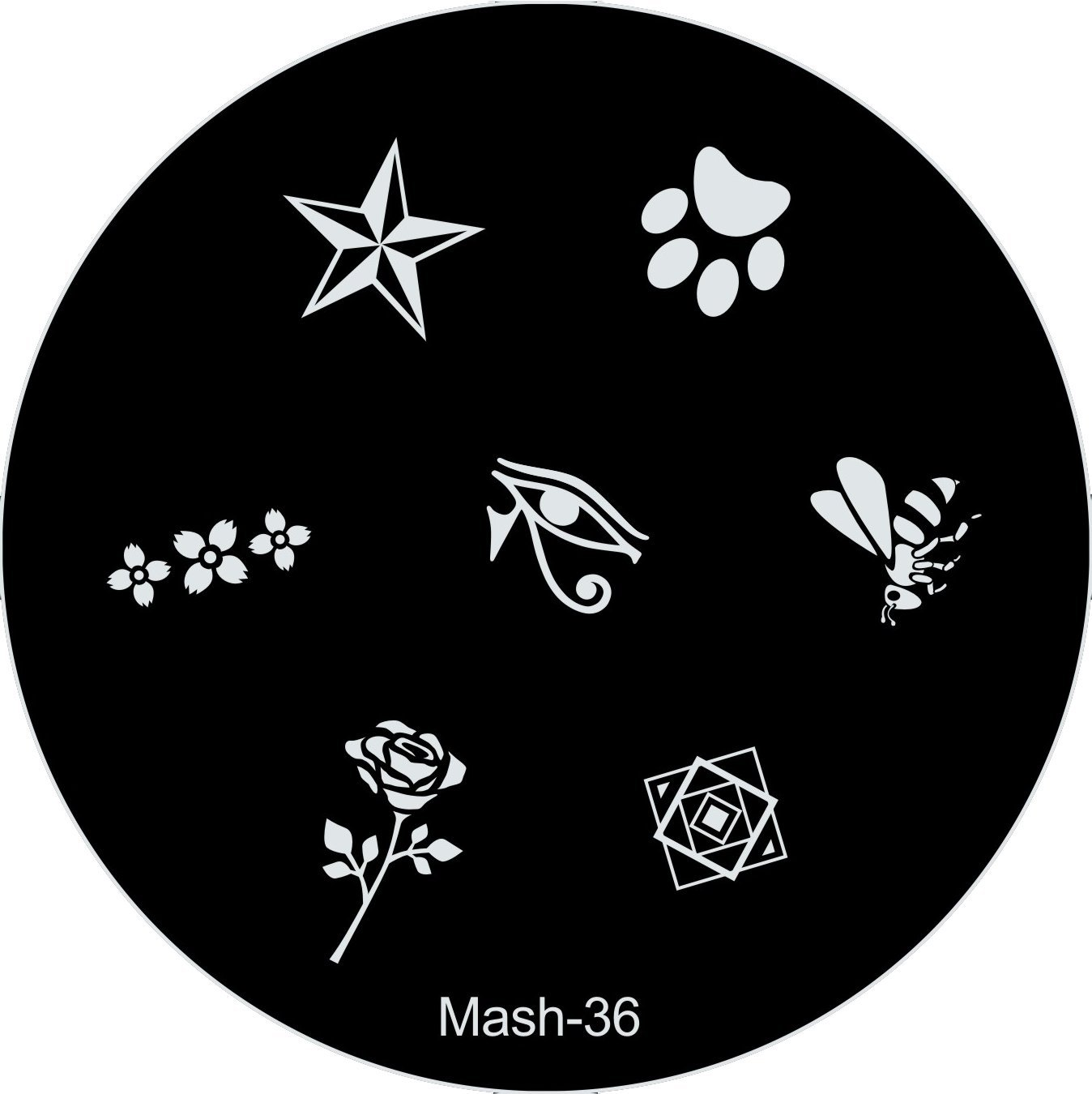 Amazon.com : MASH Nail Art Stamp Stamping Image Plate No 37 : Nail ...