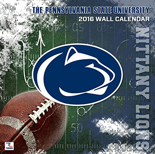 "Turner Penn State Nittany Lions 2016 Team Wall Calendar, Sept. 2015-December 2016, 12 x 12"" (8011816)"