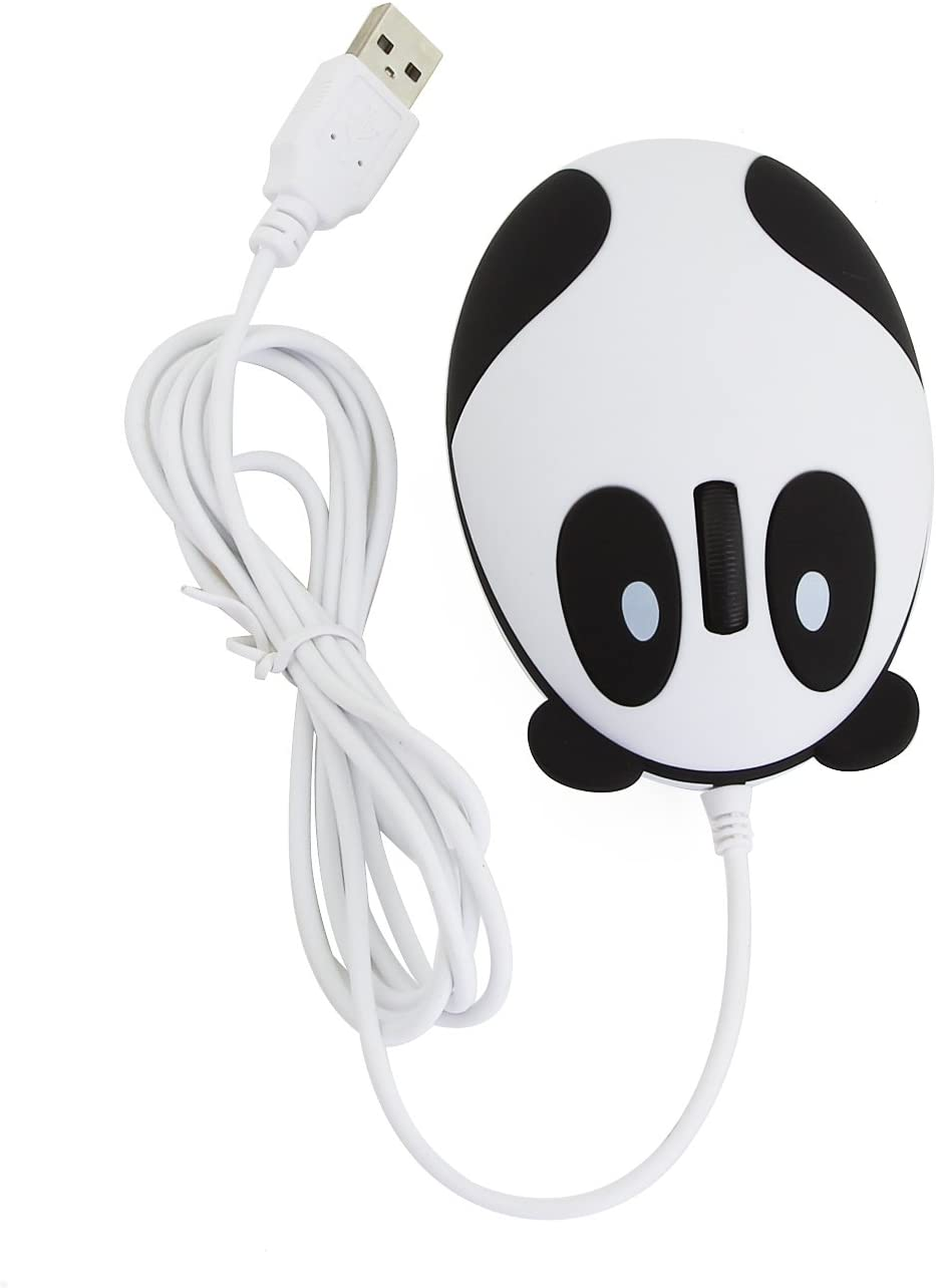 CHUYI Super Cute Animal Wired Mouse Cartoon Panda Mouse Mini Travel Mouse Novelty Portable Mouse Unique Small Corded Mice for Computer Laptop PC Desktop