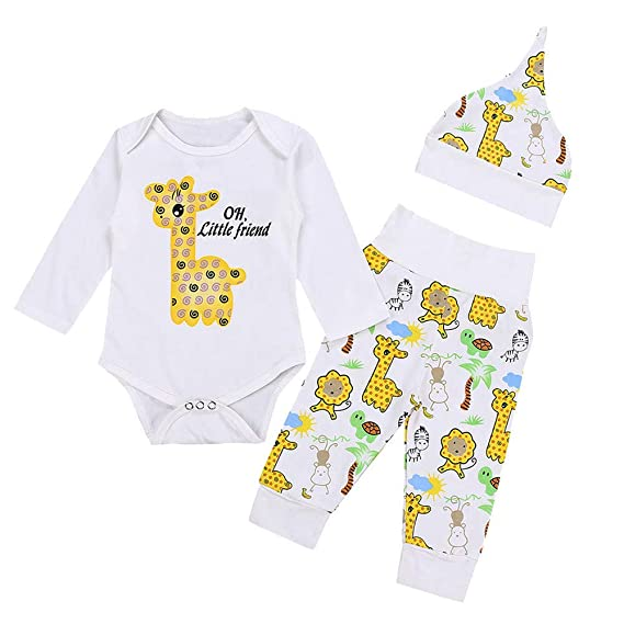 POLPqeD bebé Monos Mangas largas Rainbow Recién Nacido Pijama Bebés Algodón Mameluco Niñas Niños Estampado Animal