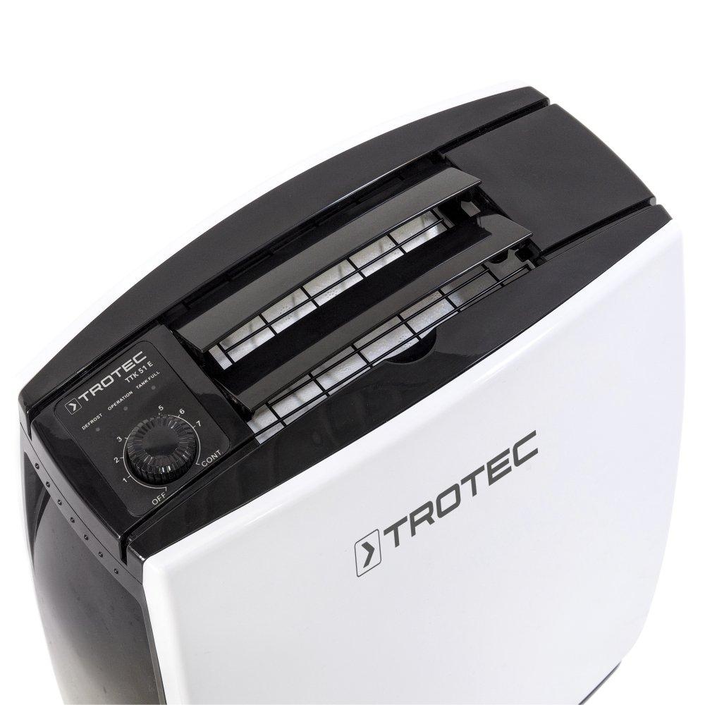 max.16 L//Tag geeignet f/ür R/äume bis 78 m/³ // 31 m/² TROTEC Komfort Luftentfeuchter TTK 51 E