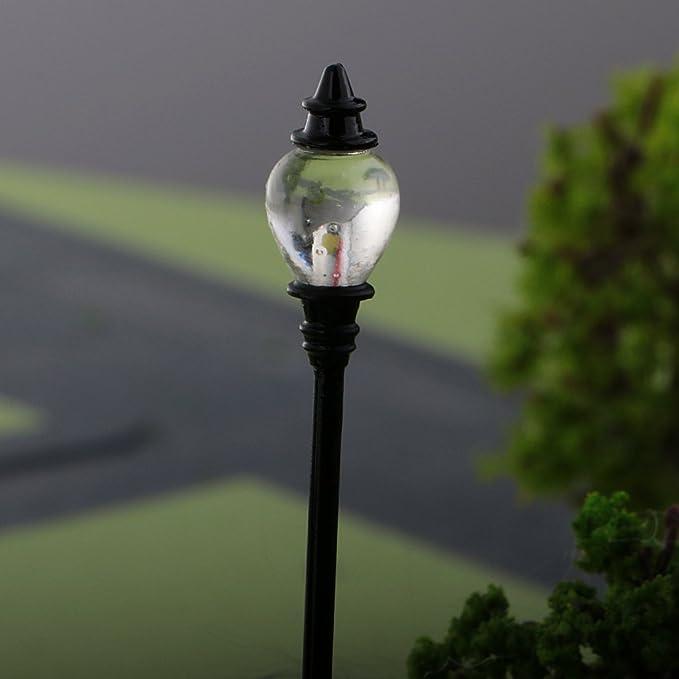 10Pcs 1:64 S Medidor de composição street Lâmpada Led Light 1:64 S Escala Kit De Construção