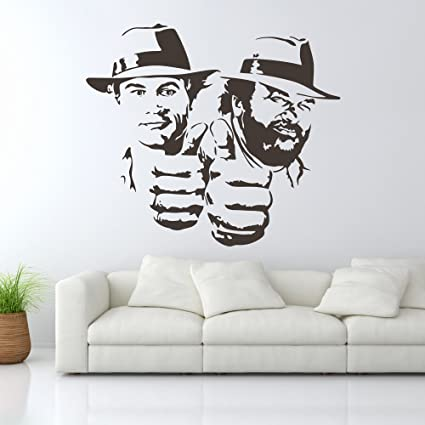 Wall Tattoo Bud Spencer And Terence Hill Double Trouble Wall