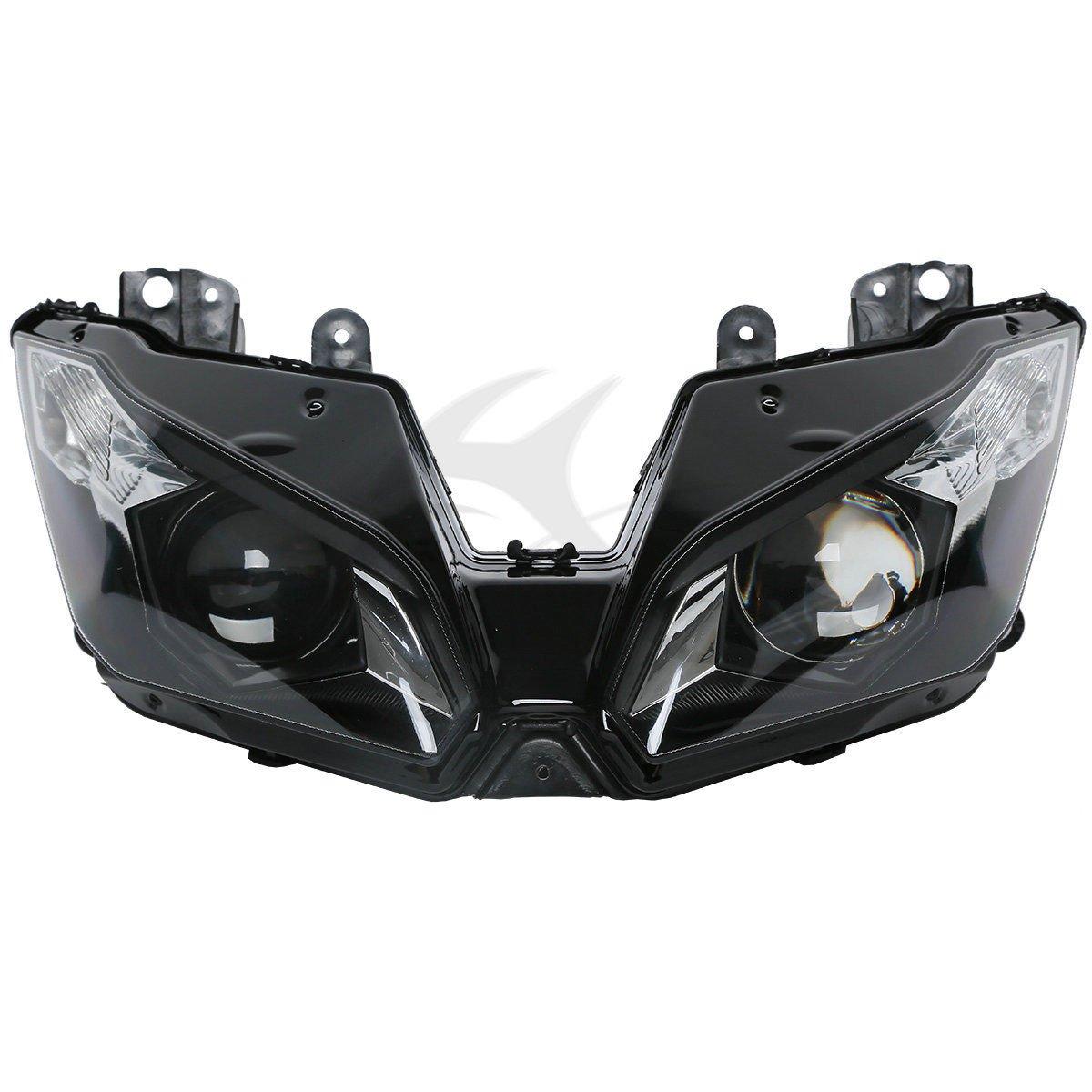 XFMT Headlight Headlamp Assembly Compatible with Kawasaki Ninja ZX6R ZX-6R ZX636 2005 2006 2005 2006