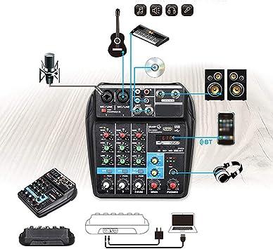 Amazon.com: Mezclador estéreo, mezclador de audio ...