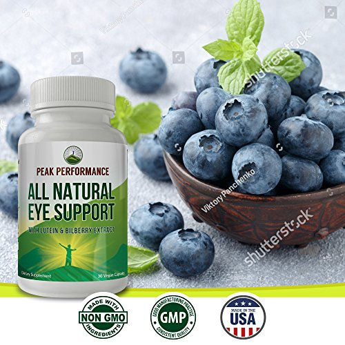 Eye Support Supplement / Vitamins with Carotenoids Lutein and Bilberry Extract by Peak Performance. Great Eye Protection for Computer Users. With Zeaxanthin and Astaxanthin. 30 Vegan Capsules (1 pack) by Peak Performance Coffee (Image #4)