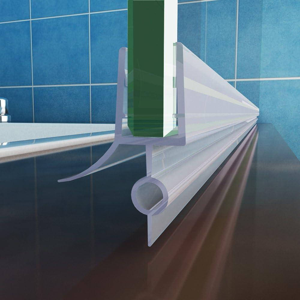 MIQU 100 – 120 x 140 cm bañera 2 Piezas Plegable Pared Aufsatz 180 ° Mampara de Ducha Nano Cristal, 120 cm: Amazon.es: Hogar