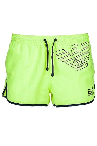 new product 19213 282f1 Emporio Armani EA7 costume da bagno shorts mare uomo giallo ...