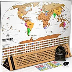 17 best scratch maps for your 2018 travel adventures brilliant maps landmass scratch off world map poster gumiabroncs Images
